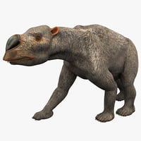 3ds max diprotodon rigged