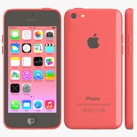 3d model apple iphone 5c pink