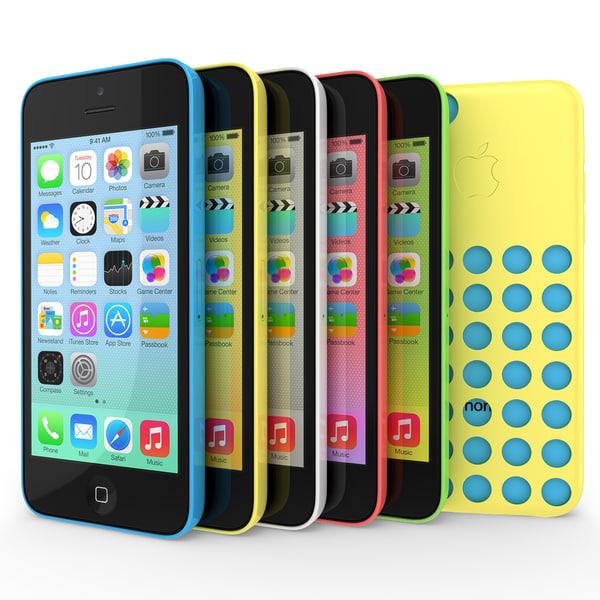 version apple iphone 5c 3d model