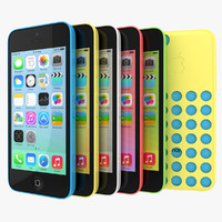 Apple iPhone 5c All Available Colors With Cases
