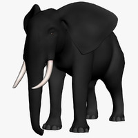 black wild elephant 3d 3ds
