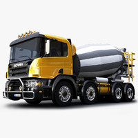 scania concrete mixer 3d ma