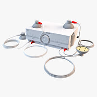vacuum therapy unit 3d model