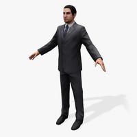 games arabic civilians male 3d model