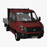 crafter 50 pickup truck 3ds
