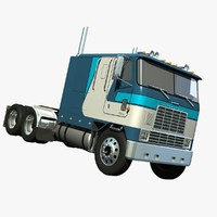 international 9670 cabover truck 3d lwo