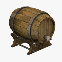 3d cartoon barrel