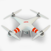 3d model quadro copter video camera