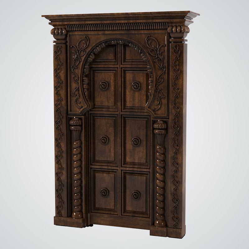 b Oriental Door Portal marraKech carved decorated eastern0001.jpg