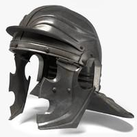 roman helmet 3d fbx