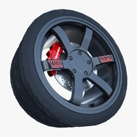 3d model volk racing wheel
