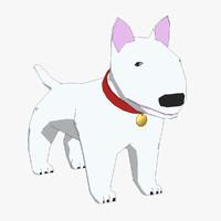 3d bull terrier dog