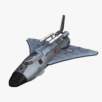 buck rogers ranger space shuttle 3d model
