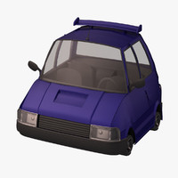3ds max standar compact car toon