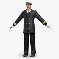3d captain male character model