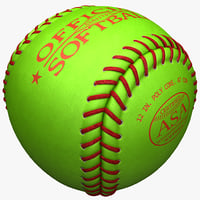 3ds max softball ball