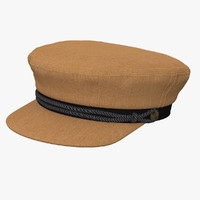 brixton fidder cap camel 3d model