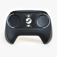 3d model steam controller