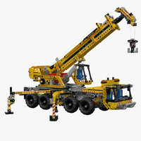 3d model lego technic mobile crane