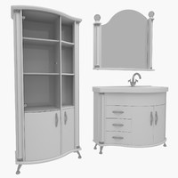 3d bathroom furniture model