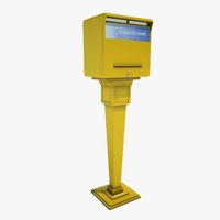 3d mail post box