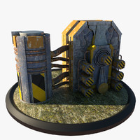 3d model of reactor architectural scene