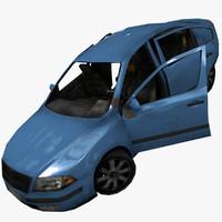 abandoned sedan 3d model