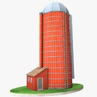 farm silo model