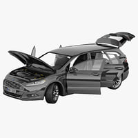 mondeo 2013 wagon rigged car 3d max