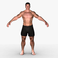 3d model jake rigged realistic male