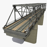 railway bridge 3d max