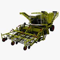 combine claas 3d model