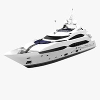 3d model sunseeker yacht cruising
