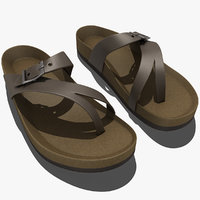 3d model teva naot sandal leather