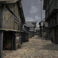 3d medieval buildings