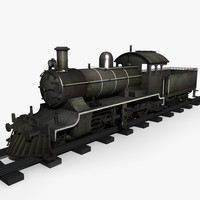 3ds max old steam locomotive