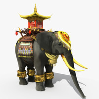 thailand elephant thai 3d model