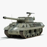 ww2 m36 jackson tank destroyer 3d model