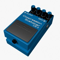 3d compression sustainer pedal model