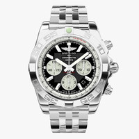 breitling chronomat steel modeled 3d max