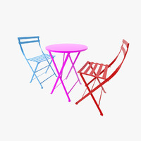 3d chair table fermob floreal