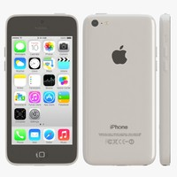 3d apple iphone 5c white model