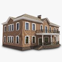 3dsmax english brick house