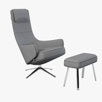 maya vitra elegant lounge chair
