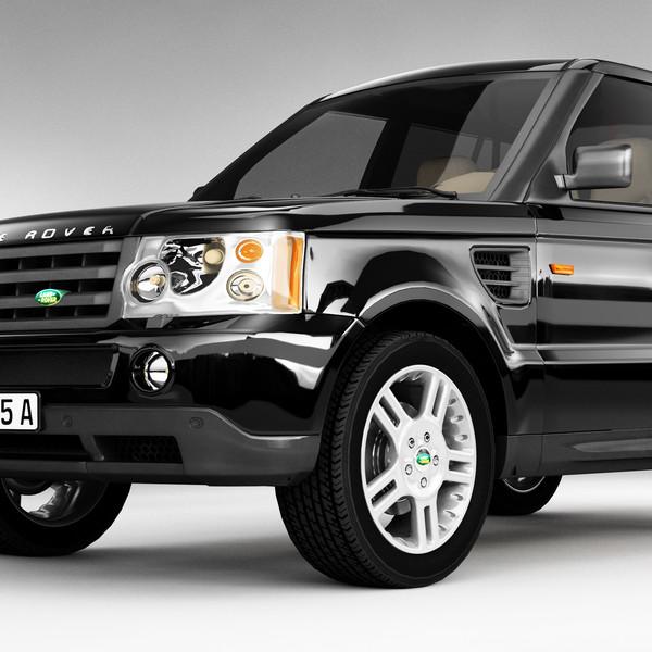 Land Rover Suvs: 3d Range Rover Suv Model