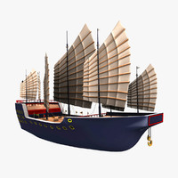 junks dynasty vessels 3d model