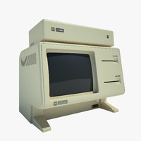 apple lisa computer 3d max