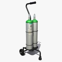 Oxygen Tanks Cart