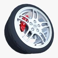 nissan gtr- r33 wheel 3d obj