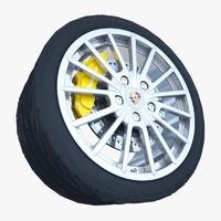 3ds max porsche panamera wheel